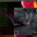 Star Wars Jedi Knight II Outcast rodando no Ubuntu